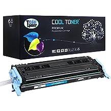 Cool Toner compatible toner Q6001A 2000 Page cartucho de Toner Compatible para HP Color LaserJet 2600N 1600 2605N 2605DN 2605DTN CM1015 MFP CM1017 MFP, Cyan, 1-Pack,compatible toner q6001a
