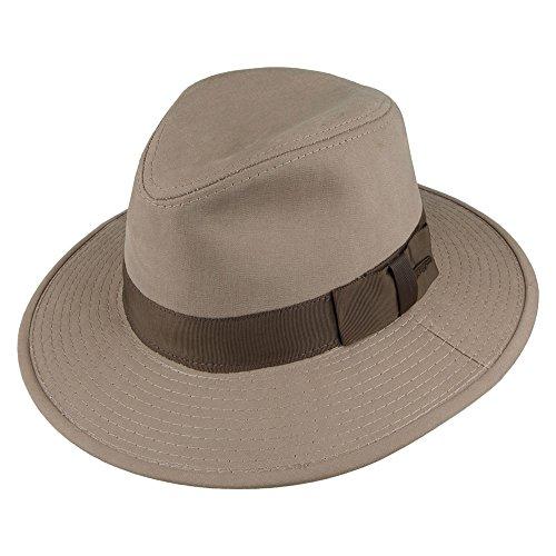 Village Hats Chapeau Fedora Safari en Coton Khaki Indiana Jones