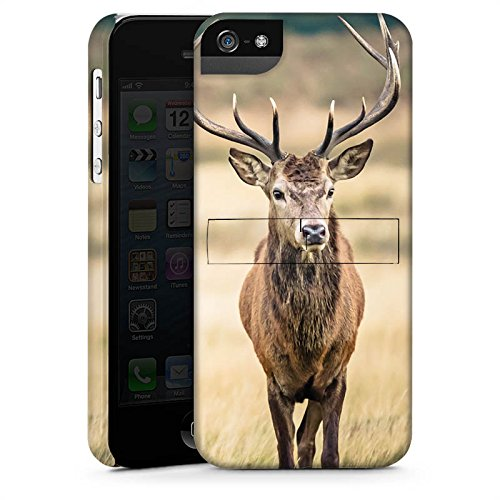 Apple iPhone 6 Plus Hülle Case Handyhülle Hirsch Wald Tier Premium Case StandUp
