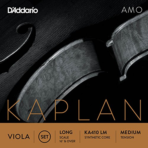 D'Addario KA410-LM Kaplan Amo Viola Saiten Satz (Long Scale, Medium Tension)