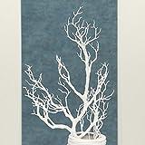 Dekozweig Wintertime aus Kunststoff in weiß Höhe 81 cm