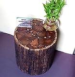 #4: Nisar Handicrafts Wooden Handmade Antique Living Room Coffee Table, Stool Round Shape