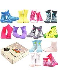 TeeHee Kids - Calceties de algodón para niñas (12pares)