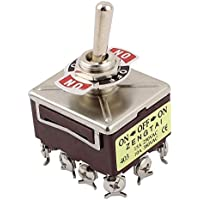 DealMux 10A/380VAC 15A/250VAC 3 Position 4PDT on/Off/on 12 Pin Toggle Switch
