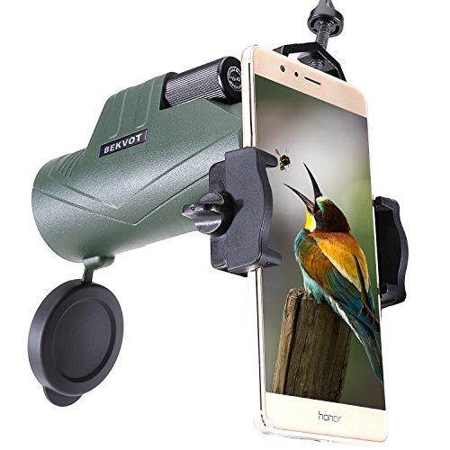 BEKVOT Monocular para Adultos Alta Potencia, 10X42 Impermeable de Alta definición para fotografía móvil, Telescopio de Bolsillo Compacto para observación de Aves, Camping, Turismo, Viajes