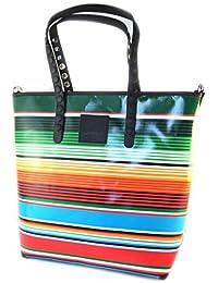 Bag schöpfer 'Gabs'multicolor-streifen (l)- 40x35x11.5 cm.