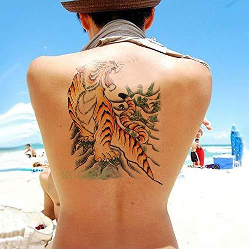BRT Wasserdicht Temporärer Tattoo Sticker Cross Wing Angel Ganze Rücken Tätowierung Große Tatto-flash-tatoo Gefälschte Tattoos Für Frauen Men Girl pflaume