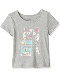 GAP Baby Girls' Plain Regular Fit T-Shirt