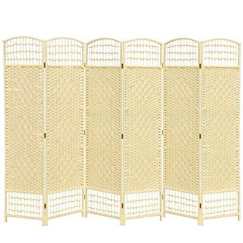 Yahee Raumteiler Paravent Trennwand Sichtschutz Wand Spanische Wand (Cream, 6 tlg.)