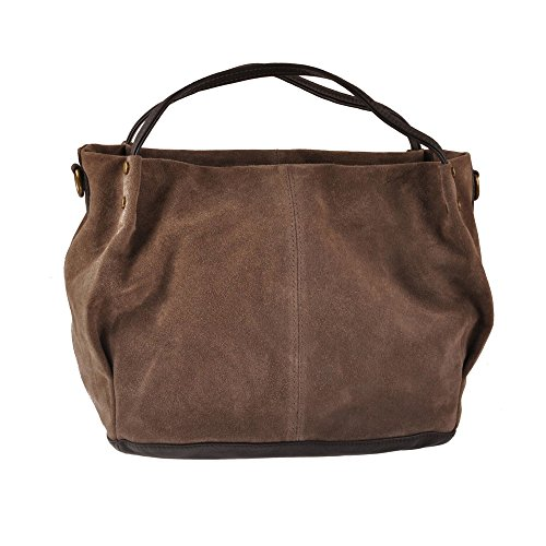 Pellevera Fleur Sac hobo, sac à main, sac bandoulière (noir) marron