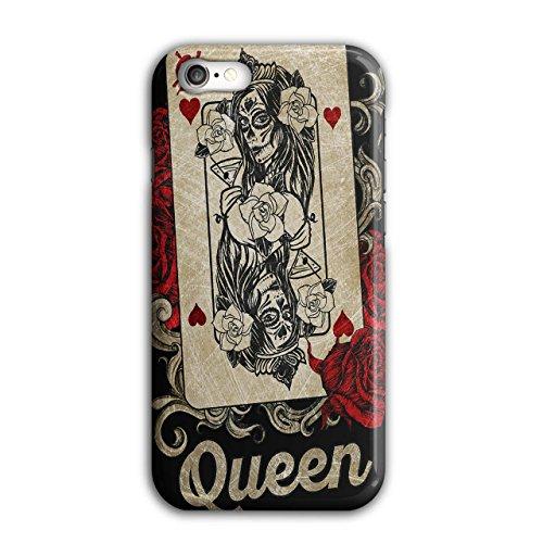 Wellcoda Zocken Karte Königin Hülle für iPhone 8 Poker Spiel Rutschfeste Hülle - Slim Fit, komfortabler Griff, Schutzhülle