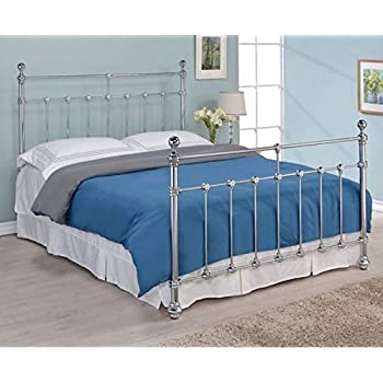 "Amazing Sophie 5 0"" King Size Chrome Finished Traditional Bed Frame Lovely - Lovely chrome bed frame Simple"