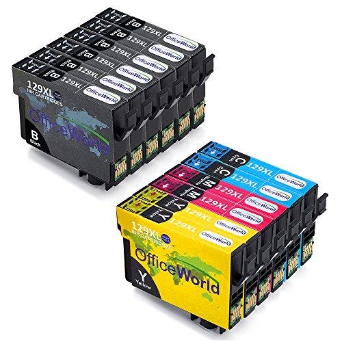 OfficeWorld Ersatz für Epson T1295 Druckerpatronen T1291 T1292 T1293 T1294 Kompatibel für Epson Stylus SX435W SX235W SX420W SX230 SX425W SX440W SX445W, Epson Stylus Office BX535wd