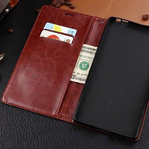 Wkae Case Cover caso di Huawei P8MAX, Cuoio folio modello di colore solido caso di stile di disegno del raccoglitore magnetico della copertura di vibrazione della copertura della cassa standup per Hua White