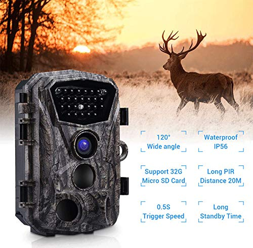 Cacoffay Draussen Jagd Kamera Wild IP56 Wasserdicht Jagd Kamera Hd Automatisch Infrarot Sensor Überwachung Kamera 120 ° Erkennung Angebot
