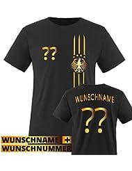 130b53af0d39c1 Comedy Shirts Kinder Fußball T-Shirt bedruckbar - Wunschname   Nummer -  WM EM