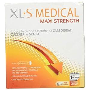 XL-S MEDICAL Max Strength Trattamento Dimagrante Forte, Pastiglie Dietetiche per una Gestione Ottimale del Peso, 120 Compresse 7 spesavip