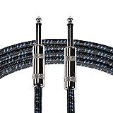 Neewer® zb-2410pieds/3M Guitare câble instrument avec 1Standard/10,2cm droite vers prise droite, noir, tissé en tweed pour femme