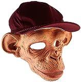 Chimp Affenmaske aus Latex mit beweglichem Mund und Mütze