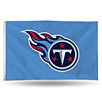 NFL Tennessee Titans 3-Foot by 5-Foot Single Sided Banner Flag with Grommets