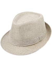 Milopon Panama cappello casual uomo rotondo cotone cappello per outdoor  sport campeggio spiaggia primavera estate aa8b553d162d