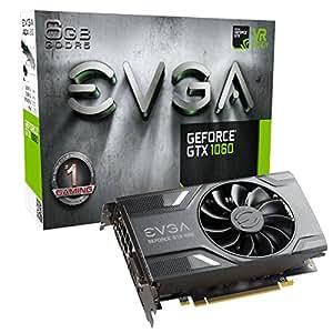 EVGA GeForce GTX 1060 - Scheda video, 3GB SSC, per gaming, ACX 3.0, GDDR5, LED 6GB