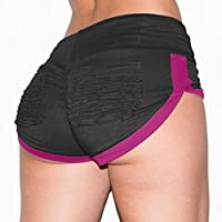 Shorts deportivos de bolsillo para mujeres Gym Workout Waistband Skinny Yoga Short Pants pantalon corto mujer ★Longra