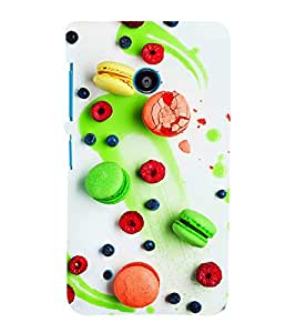 PrintVisa Designer Back Case Cover for Nokia Lumia 530 :: Nokia Lumia 530 RM 1017 :: Nokia Lumia 530 Dual SIM :: Microsoft Lumia 530 Dual (Assorted Candies Pattern)