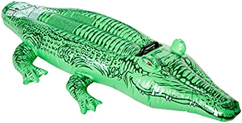 Intex - 58546NP - Jeu de Plein Air - Crocodile Gonflable - 168x86 cm