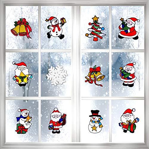 achten Fenster Aufkleber Klammert Wall Abziehbild für Weihnachten Dekoration, 12 Arten ()