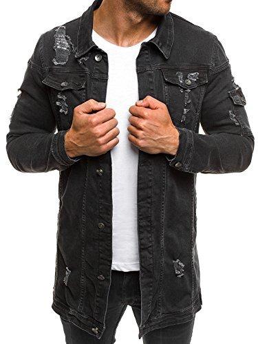 556298dc7be4 OZONEE MIX Herren Jeansjacke Übergangsjacke Jacke Denim Sweats Sweatjacke Frühlingsjacke  Jeans Jacke OTANTIK 474K SCHWARZ L