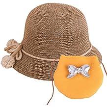 490cf760ba437 Sombrero de Paja para bebés Sombrero de Verano para niñas Sombrero Set Beach  Floppy Hats Sombrero