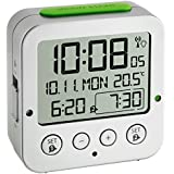 TFA 60.2528.54 - Reloj despertador digital, color plata