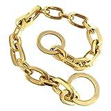 DINGG 15mm Designer Dog Collar, XL Large Metal 316L Edelstahl Big Dog Luxury Collar Weld Chain Anti-Bitte, Durable Dog Halskragen,28in