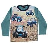 Me Too Camiseta de Manga Larga para niño bebé, Estampado de Tractores Multicolor, Talla: 18-24 Meses (86 cm), Color: Azul Verdoso, 4655
