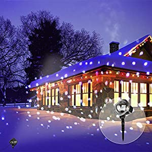 Christmas Decorations LED Projection Lights (Snowfall Light with Remote Control)
