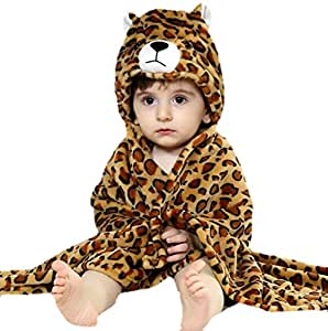Brandonn Premium Hooded Blanket Cum Wrapper for Babies - Tiger (Brown)
