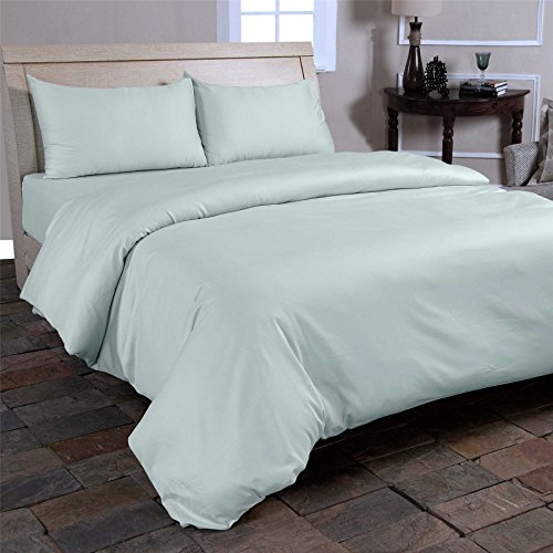 Homescapes Organic Cotton V Shaped Pillowcase Duck Egg Blue 400 Thread Count Percale Hypoallergenic Bedding for Orthopaedic / Pregnancy / Nursing Pillows