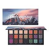 Allbesta 21 Farben Shimmer Matte Lidschatten Make-up Palette Glitter Langanhaltend Pigment Wasserfest
