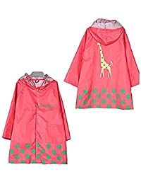 Niño Linda Chubasquero Con Capucha, Dibujos Animados Impermeable Para niños Impermeable Ropa impermeable Ligero para edades de 3-12 años de edad, niñas y niños 4 Tamaño