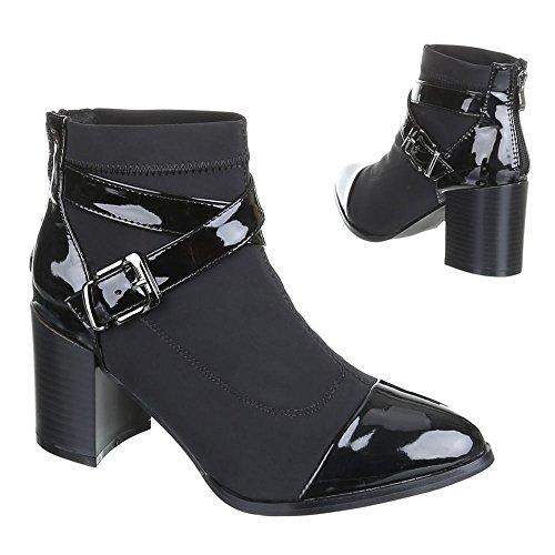 Damen Schuhe, LL15A29-3, STIEFELETTEN Schwarz