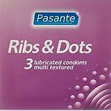 Pasante Ribs y Dots Condones Estimulantes 3 Piezas - 3 Unidades