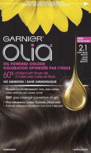 Garnier Olia Oil Powered Permanent Hair Color, 2.1 Soft Blue Black by Garnier