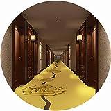 GBX Tapis de Course Tapis Allée Chambre Bureau Hôtel Élégance Moderne Patinage À Roulettes Antistatique Durable Fleur Dorée (Couleur: B, Taille: 1,4X3M) Pour La Vie , Protecteur Couverture,B,0.6X4M