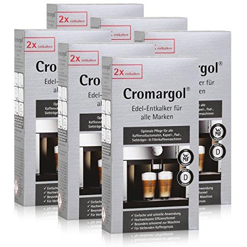 6x WMF Cromargol Edel-Entkalker für Kaffeevollautomaten 2x100ml