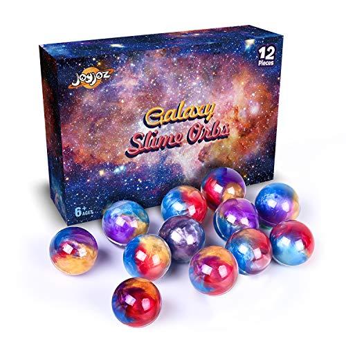 Joyjoz Slime Galaxy Fluffy Slime, 12 Packungen Golden Putty Slime Kit DIY Schleim Bälle, Partygeschenkset Stressabbau Lernspiel für Kinder und Erwachsene -