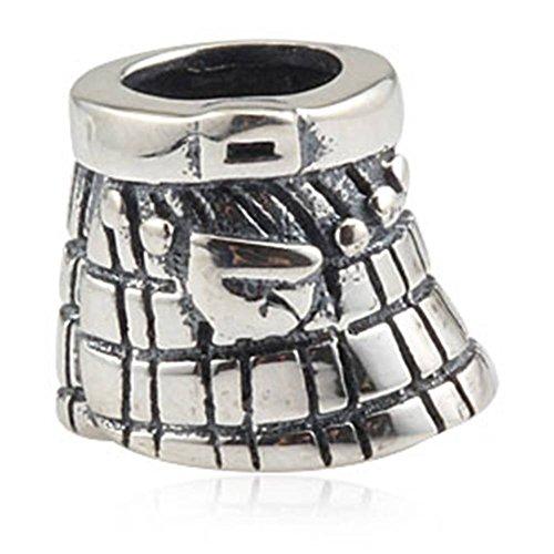Schottland Rock Charms Antik 925Sterling Silber Perle für europäische Stil Armband Schmuck (Antike Sterling Silber)
