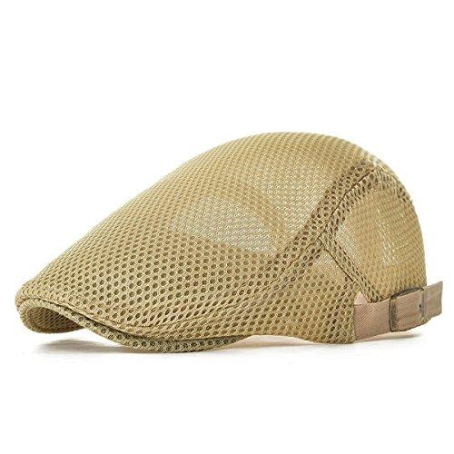 NALITARE NALITARE Herren Schirmmütze Einstellbar Sommer Kappe Hut Schiebermütze Flatcap (Beige)