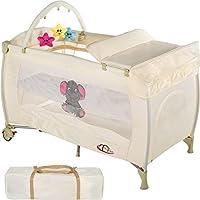 TecTake Cuna infantil de viaje portátil altura ajustable con acolchado para bebé - disponible en diferentes