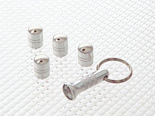 Richbrook caña de tapones de válvula de rueda antirrobo universal–titanio